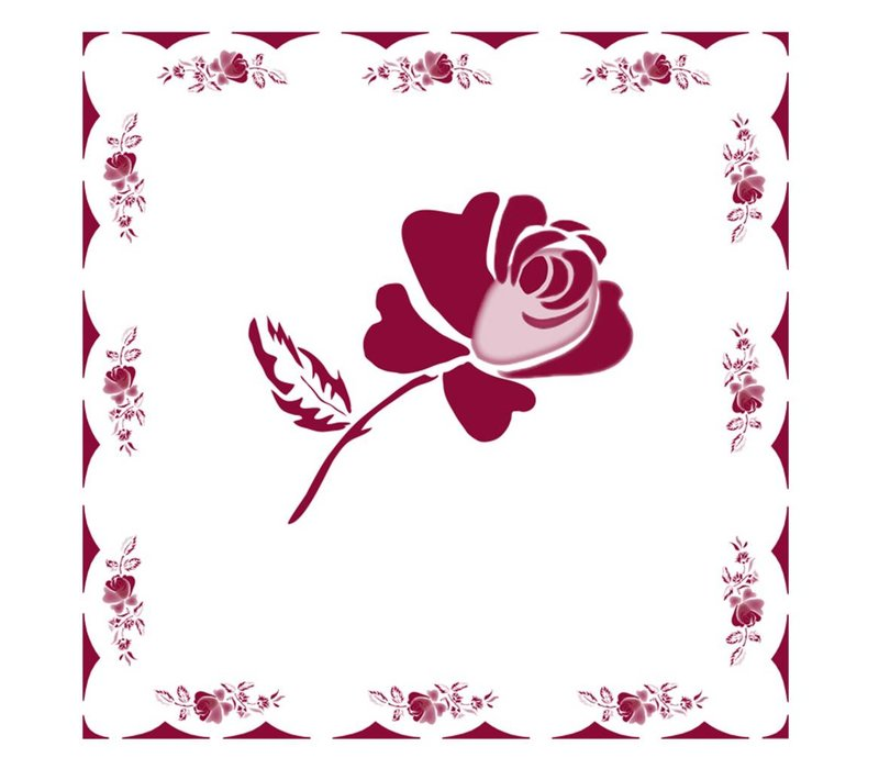 Rose Red 6 Packs of 20 Napkins