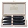 Laguiole Laguiole 6 Steakmesser 1,2 mm 'New Age Schwarz' in Box