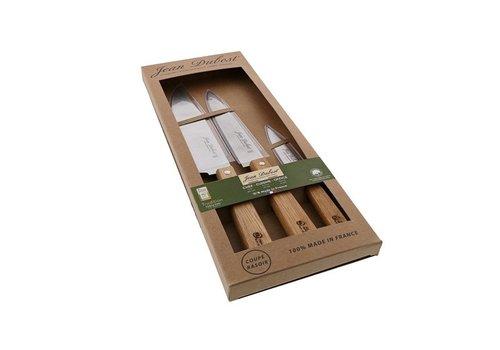 Jean Dubost Jean Dubost Set mit 3 Messern: Küche, Koch, Büro