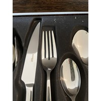 Bugatti Preludio 24-piece stainless steel cutlery in wooden box