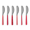 Kom Amsterdam 6 Butter Knives 'Provence Mix' Red