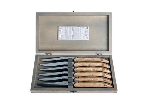 Laguiole Laguiole 6 Steakmesser 'Classic' Eiche