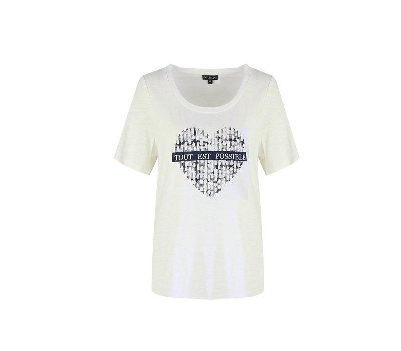 Tessa T-shirt wit