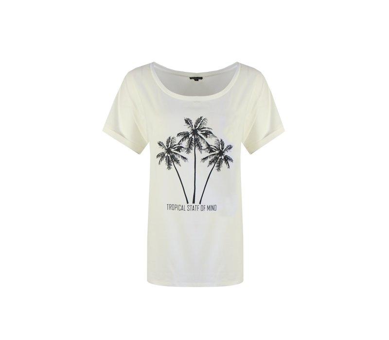 Palmtree T-shirt wit