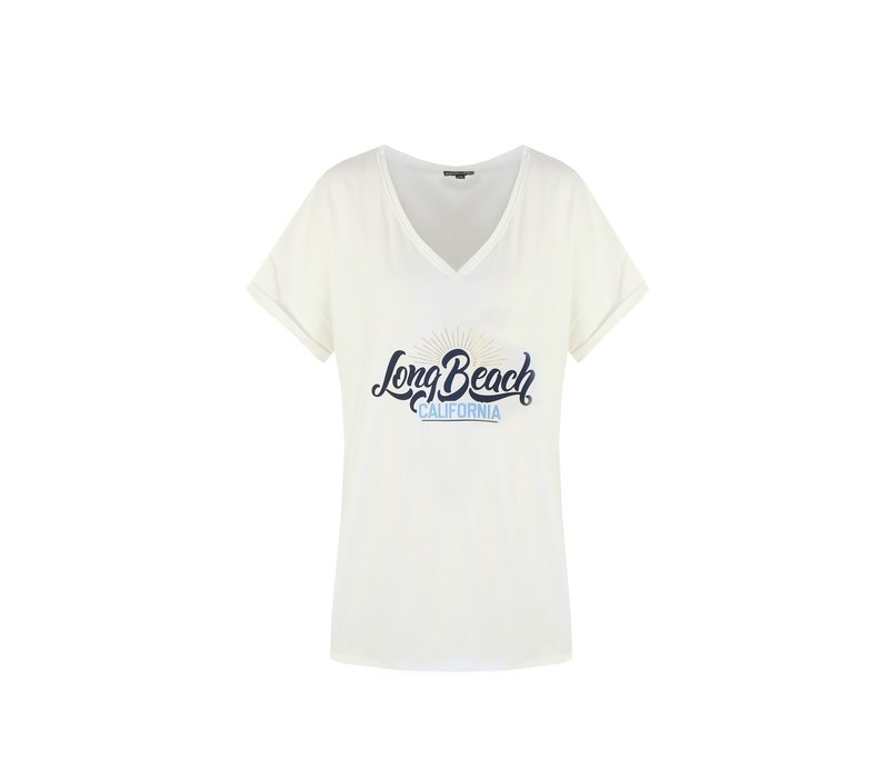 Long beach T-shirt blauw