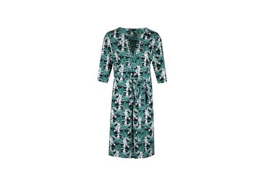 Elly jurk zeegroen