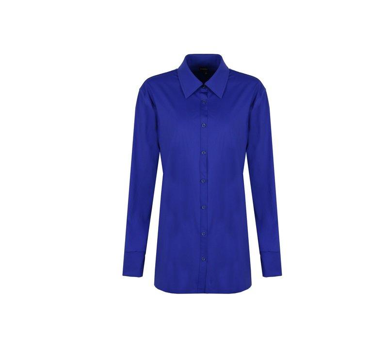 Anne blouse kobalt blauw