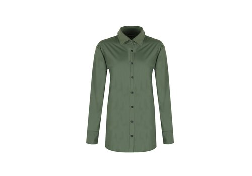 Anne blouse gewassen groen
