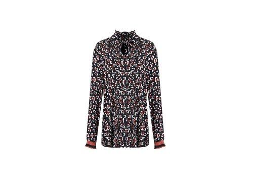 Hoy blouse zwart mix