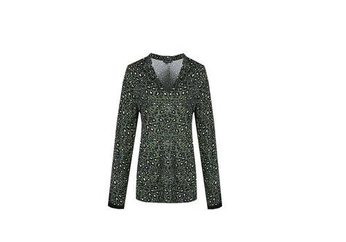 Hortencia blouse gewassen groen mix