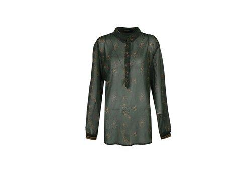 Hila blouse gewassen groen mix