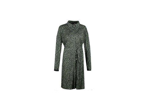 Horizon jurk gewassen groen mix