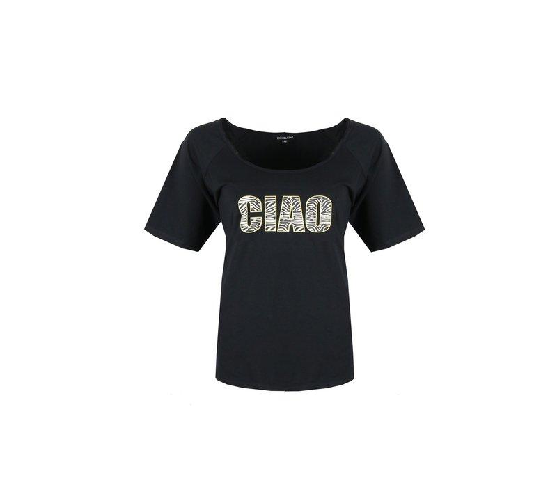 Hunig t-shirt zwart mix