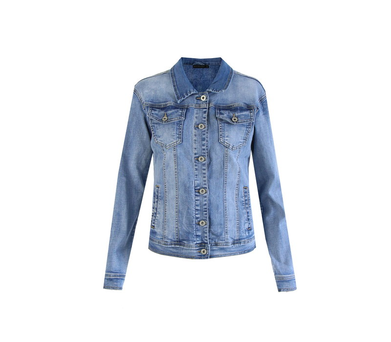 Nora jacket denim blauw
