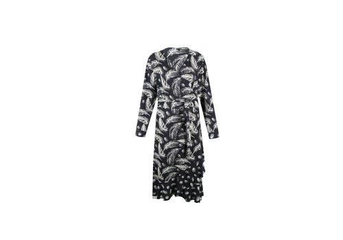 Jane jurk zwart mix