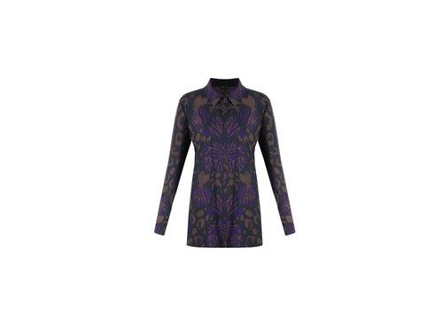 Karlijn blouse paars mix