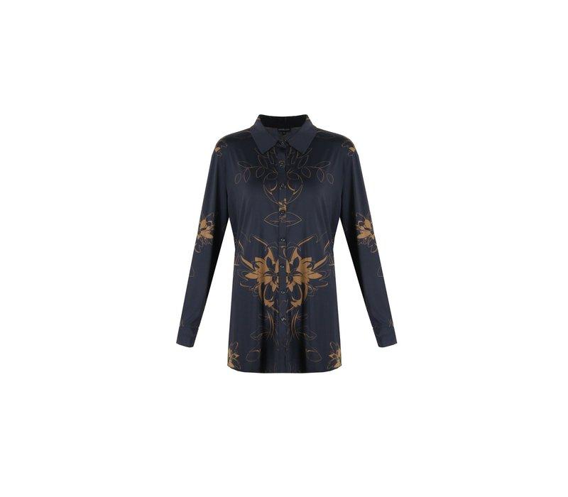 Katja blouse zwart mix