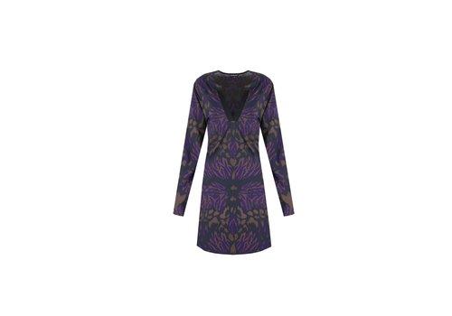 Karlijn jurk paars mix