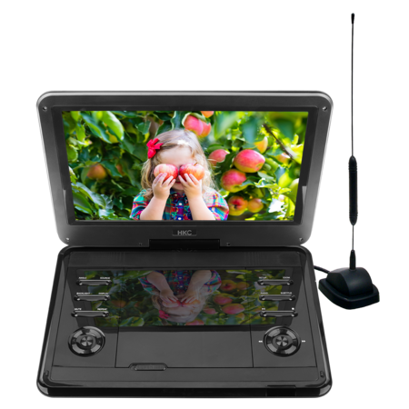 HKC D12HBDT 12inch portable DVD player with built-in TV tuner