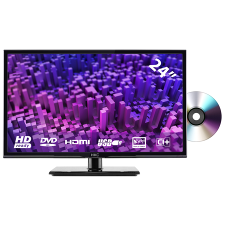 HKC HKC 24C2NBD 24 inch HD-ready LED TV with DVD player