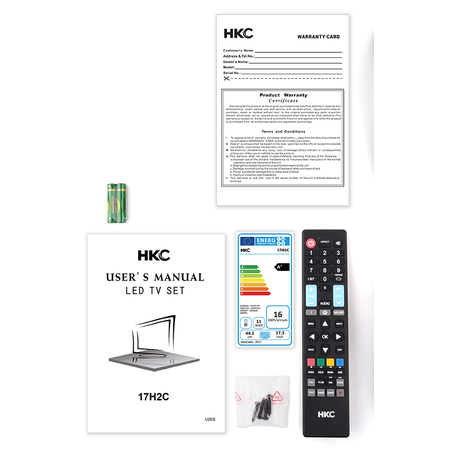 HKC HKC 17H2C 17.3 inch HD-ready LED tv/DVD