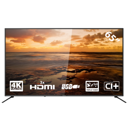 Yasin YASIN SCEPTR E-U65 LED-tv 65 inch (4K/Triple Tuner/CI+ /3x HDMI/USB)
