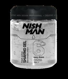 Nish Man Scheergel Silver 750 ml