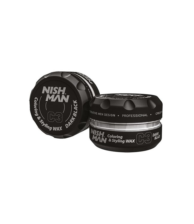 Nish Man Color Wax Dark Black