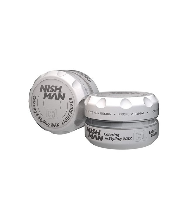 Nish Man Color Wax Light Silver