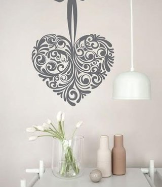 Wall Decal Heart Design