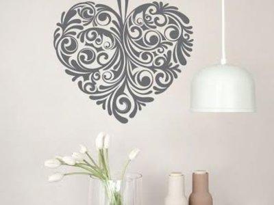 Wandtattoo Herz-Entwurf