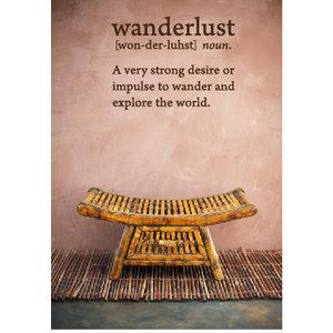 Muursticker Wanderlust