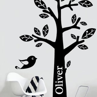 Wandaufkleber - Baum mit Ihrem eigenen Namen 1