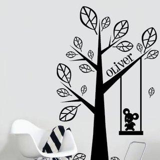 Wandaufkleber -  Baum mit Ihrem eigenen Namen 2