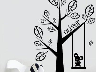 Wandtattoo Baum mit Ihrem eigenen Namen 2