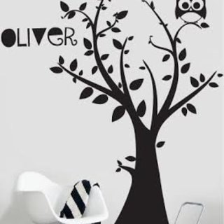 Wall Sticker - Tree with your own name 3