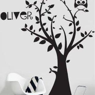 Wandaufkleber - Baum mit Ihrem eigenen Namen 3