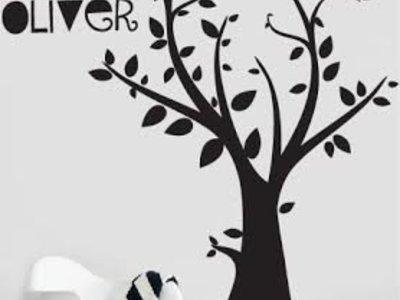 Wandtattoo Baum mit Ihrem eigenen Namen 3