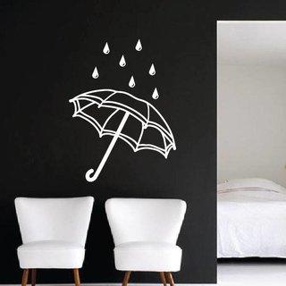 Wandtattoo Regenschirm