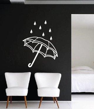 Muursticker Paraplu