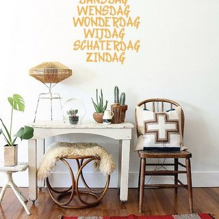 Wall Decal days of the week