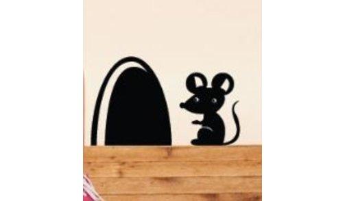 Muursticker muis