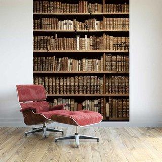 Selbstklebende Fototapete angepasst - Bücherregal