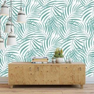 Selbstklebende Fototapete angepasst - Palm - Grün