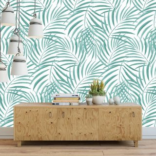 Self-adhesive photo wallpaper custom size - Palm - Green