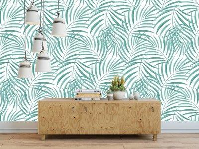 Mural Palm Grün
