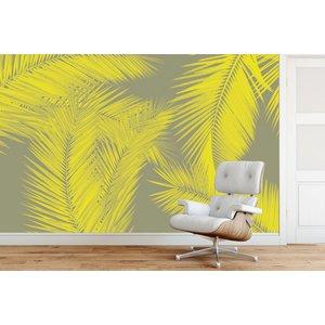 Photo Wallpaper Duo Palm - Yellow