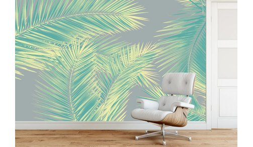 Self-adhesive photo wallpaper custom size - Duo Palm - Green