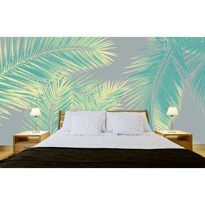 Photo Wallpaper Duo Palm - Green