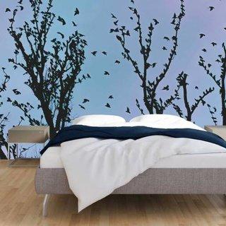 Self-adhesive photo wallpaper custom size - Foliage Birds